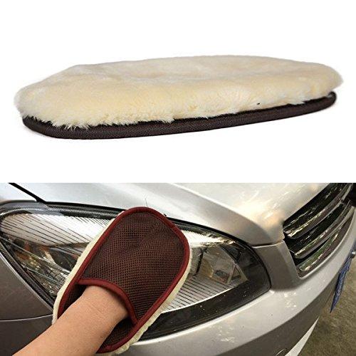 YONGYAO Lamb Wool Car Wash Mitt Glove Super Soft Lambswool Auto Wax Washing Tool
