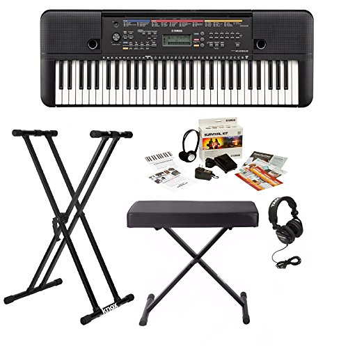 Yamaha PSRE263 Keyboard with Knox Bench, Stand, Headphone...
