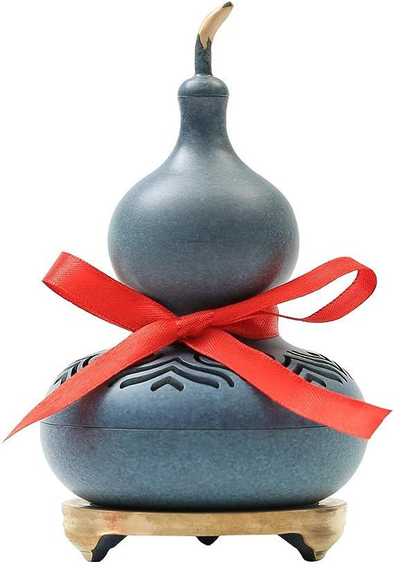 芳香器・アロマバーナー 香炉ひょうたん純銅製香炉ホーム屋内クリエイティブアロマ炉オフィスラッキー風水飾り アロマバーナー芳香器