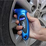 UXOXAS Digital LCD Car Tire Tyre Air Pressure Gauge Meter Manometer Barometers Tester Tool, blue