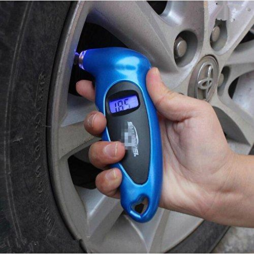 UXOXAS Digital LCD Car Tire Tyre Air Pressure Gauge Meter Manometer Barometers Tester Tool, blue by UXOXAS