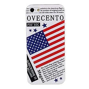 JJEUsa Flag Pattern Plastic Hard Case Cover for iPhone 5/5S