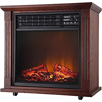 World Marketing QF4544 CG 5200 BTU Quartz Fireplc Oak