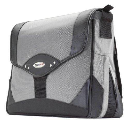 Mobile Edge Premium Messenger Bag- 15.4-Inch PC/17-Inch MacBook Pro (Black/Silver)
