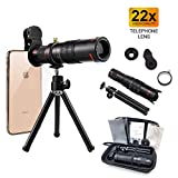 Cell Phone Camera Lens, Phone Photography Kit, 22X Telephoto Zoom Camera Lens Kit Double Regulation HD Scale Distance FOV Phone Lens Attachment with Tripod for iPhone & Samsung & Smartphones