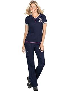 bc08d935665 Amazon.com: 289TKD SYT S Koi Women's Nurses Medical Uniform Scrub ...
