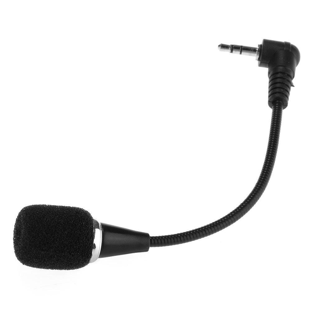 Mini Microfono Audio in Plastica Nero Jack 3, 5mm per Laptop ptyitmart BY269