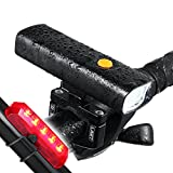 Cheap Night Eyes-Ultra Bright 800Lumen LED Bicycle headlight &Flashlight with Aluminum Mount holder -t Fit All Bike -Free USB Bike Taillight Bonus-Easy Install No Need Tool