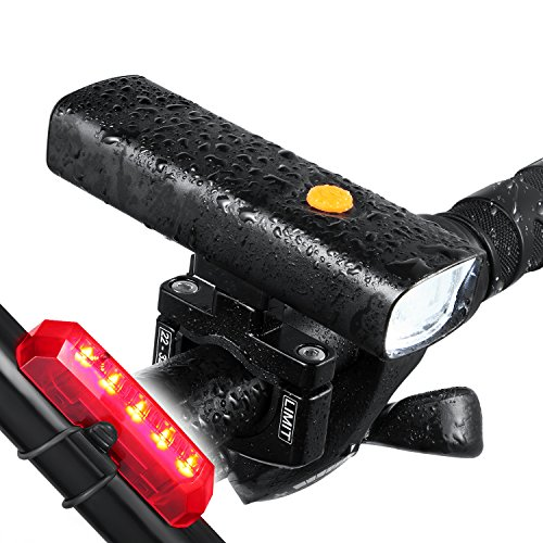 Night Eyes-Ultra Bright 800Lumen LED Bicycle headlight &Flashlight with Aluminum Mount holder -t Fit All Bike -Free USB Bike Taillight Bonus-Easy Install No Need Tool