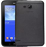 Hello Zone Exclusive Dotted Design Soft Back Case Cover Back Cover For Samsung Galaxy Tab TAB 3 NEO T111 T110/ Samsung Galaxy Tab 3V T116-Black