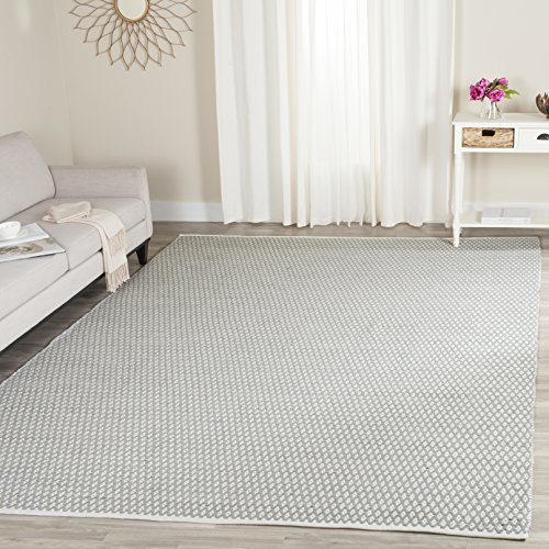 Safavieh Boston Collection BOS685E Handmade Grey Cotton Area Rug (9' x 12')