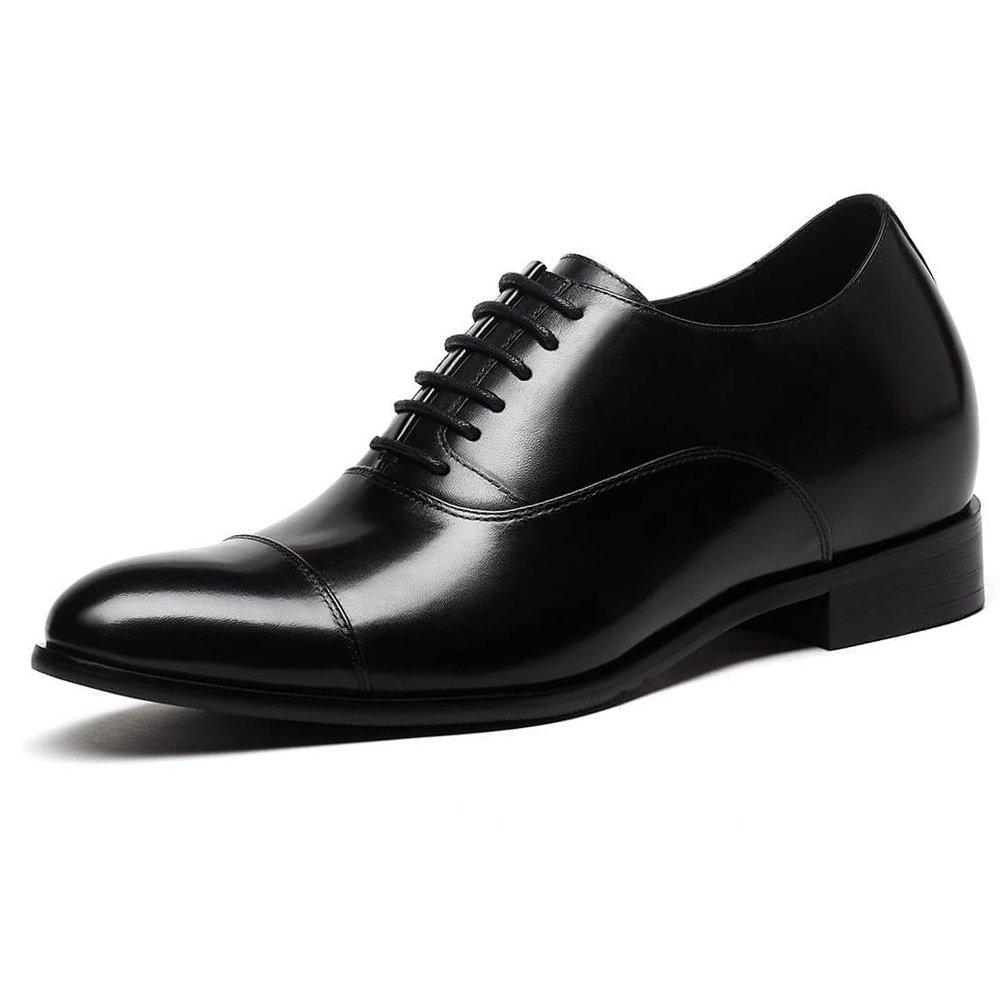 CHAMARIPA Height Increasing Elevator Shoes 2.76'' Taller Brown Men Dress Shoes X92H38-1 (10 D(M) US,Black)