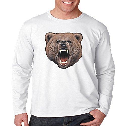 Wild Life Long Sleeve Shirt Bear Bite Mens S-3XL (White, 3XL) (Bear Bite Shirt)