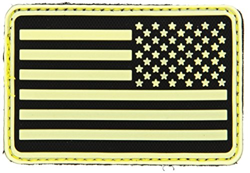 Hazard 4 US Flag Rubber 3D Velcro Morale Patch, Right Arm, G