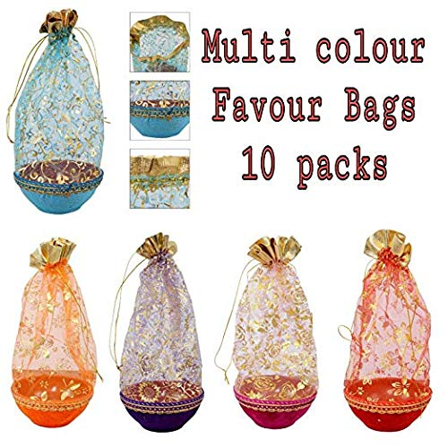 Party favor bag Drawstring poches Coin Purse Gift Bag Treat bag cloth bag wedding pouch baby shower bags jewellery bag indian potli bag chocolate bag Organza bag.(8