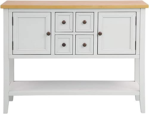 Romatpretty Buffet Sideboard Console Bottom Shelf Rustic Hallway Foyer Indoor Dining Table Drawers Sideboard Tables