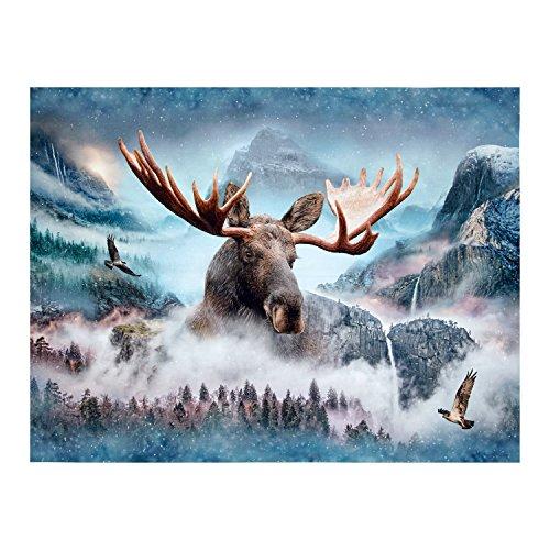 Hoffman Fabrics Hoffman Digital Call of The Wild Moose 33inPanel Waterfall, Multi
