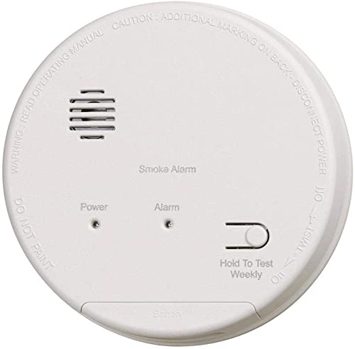 Gentex S1209 Smoke Alarm, 120V Hardwired Interconnectable Photoelectric w 9V Battery Backup T3 Horn 917-0059-002