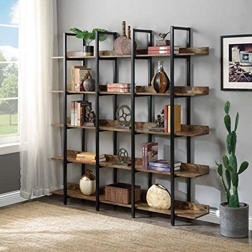 Reviewed: 5-Tier Industrial Bookcase