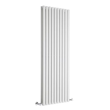 Hudson Reed DRW009 - Radiador Calefactor Mural Diseño Vertical Doble en Acero Blanco - 1600mm x