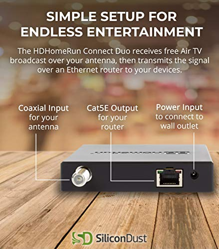 ... HDHR5-2US SiliconDust HDHomeRun CONNECT DUO 2-Tuner LiveTV for Cord Cutters