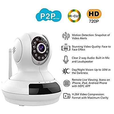 WantSee Wireless Wifi Ip/network Video Monitoring 720p Hd Plug/play Surveillance Home Security Camera Pan/tilt Two-way Audio Night Vision for Home WS-007w