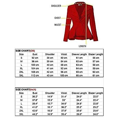 Women's 3 Piece Slim Fit Suits Set for Business Office Lady Blazer Jacket Pants: Clothing