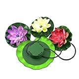 Yingli Solar Solar 3 LEDs Lotus Flower Light,AMZstar Solar Power Energy Floating LED Lotus Light Flower Lamp For Garden Pond Fountain Pool Night Lights