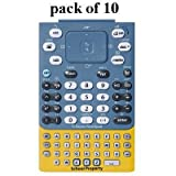 Texas Instruments Nspire EZ Spot TI Keypad Touchpad Keyboard, ''School Property'' Yellow/Blue, Pack of 10