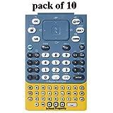 Texas Instruments Nspire EZ Spot TI Keypad Touchpad Keyboard, ''School Property'' Yellow/Blue, Pack of 10