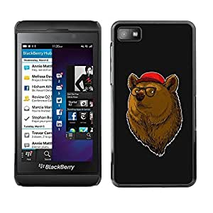 GagaDesign Phone Accessories: Hard Case Cover for Blackberry Z10 - Cool Hipster Bear