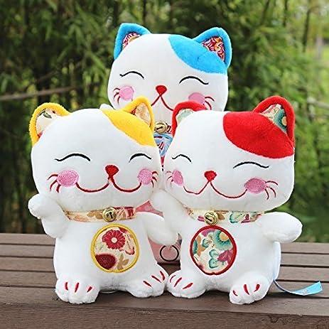 Amazon Com 2pcs Of The 25cm Cute Lucky Cat Plush Toy Soft Stuffed