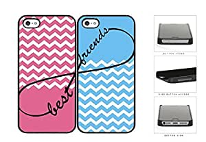 Pink Blue Matching Chevron Best Friends Set Hard Plastic Snap On Cell Diy For SamSung Galaxy S3 Case Cover