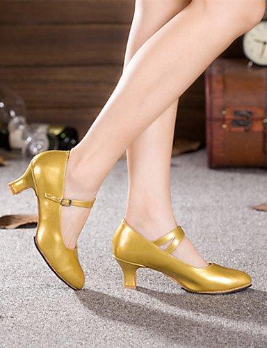 ShangYi Nicht Anpassbare - Kubanischer Damen Absatz - Lackleder - Modern - Damen Kubanischer , gold-us8 / eu39 / uk6 / cn39 , gold-us8 / eu39 / uk6 / cn39 - 6f5a48