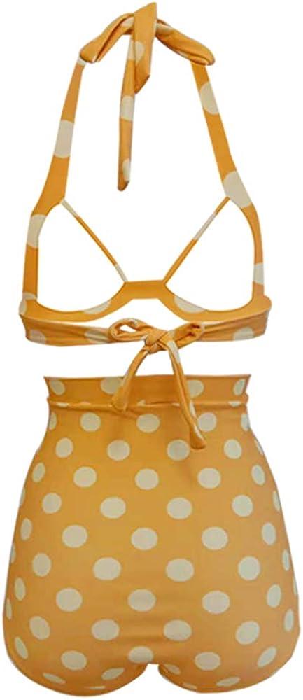 Bikini da donna Bslingerie/® vita alta stile retr/ò