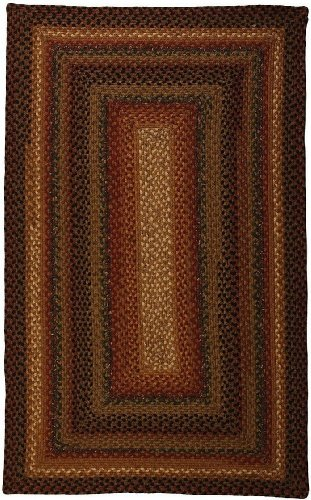Peppercorn Rug Rug (Homespice Decor Braided Rectangle Area Rug 2'x3' Gold-Brown Peppercorn Collection)