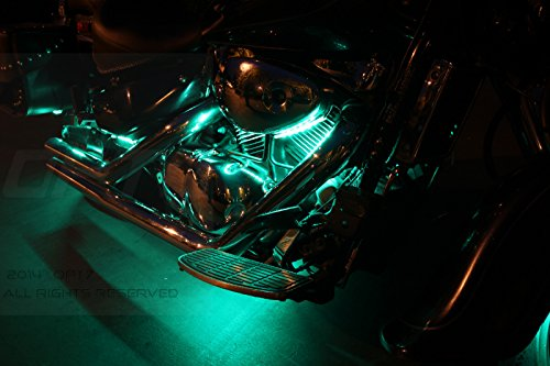 14pc Aura Motorcycle Led Light Kit Multi Color Accent