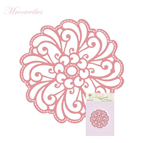 Cutting Dies for Card Making, Staron Metal Cutting Dies Stencil Flower Hearts Happy Birthday Cut Die Template Mould for DIY Scrapbook Embossing Album Paper Card Craft (R) by Staron (Image #3)