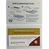 Pet Emergency Care Cards with Laminating Pouches Fish (Pack of 2)