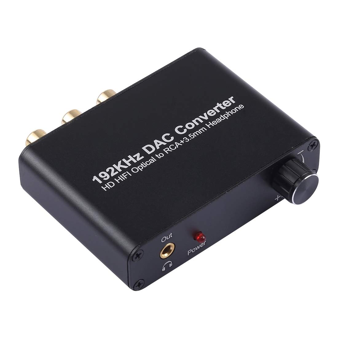 Audio Cables 192KHz DAC Converter HD HiFi Optical to RCA+3.5mm Headphone 5.1 Channel Digital Audio Converter with Volume Control Optical