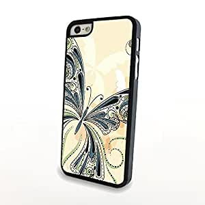 Retro Butterfly Print for iPhone 5/5s Hard Cover Matte Case Plastic Shell Carrying Protector - Can Customize Model and Pattern