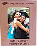 College Graduation Custom Wood Picture Frame - Fits 5x7 Inch Picture (Vertical)