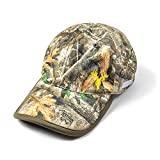 Builtcool Men's Realtree Camo Ball Cap with moisture activated cooling technology - Perfect for hunting fishing and all outdoor activities One Size