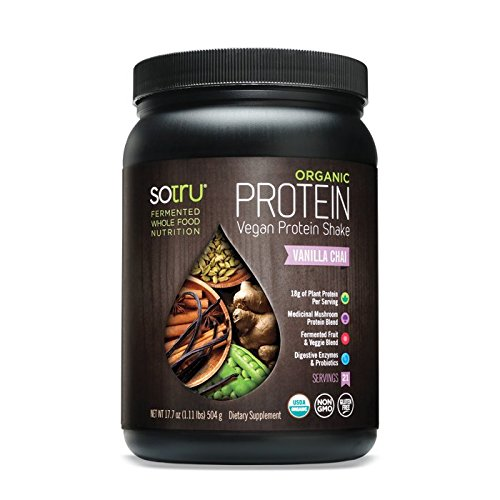 SoTru Organic Vegan Protein Shake, Vanilla Chai 17.7 Ounce by So Tru