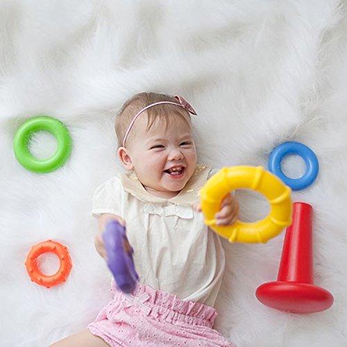51SZfNDMo%2BL - Playgro4011455 Rock N Stack Toy (Rainbow) for baby infant toddler children