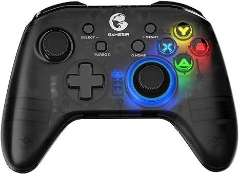 GameSir T4 pro Controlador inalámbrico de juegos Bluetooth para Windows 7 8 10 PC / iOS / teléfono Android / Nintendo Switch, joystick móvil recargable Gamepad para juegos MFi, retroiluminación LED: Amazon.es: Videojuegos