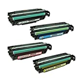 TonerBoss Remanufactured Toner Cartridge Replacement for HP CE250A ( Black,Cyan,Magenta,Yellow , 4-Pack )