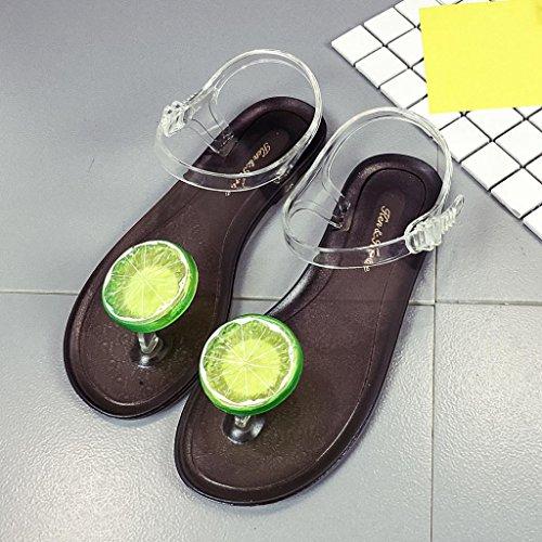 LANDFOX Sandalias de las mujeres abierto dedo del pie Tacones altos Sandalias Mujeres Tobillo Correa zapatos de verano