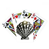 Scallop Marine Life Black Illustration Poker Playing Card Tabletop Board Game Gift