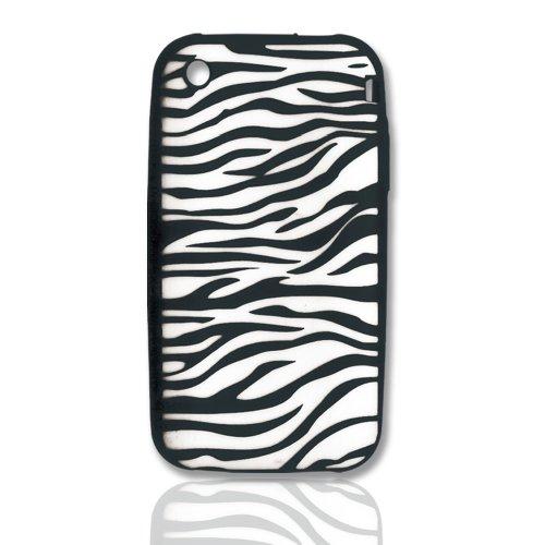 (CellAllure Silicone Protector for iPhone 3G - Zebra Black/White)